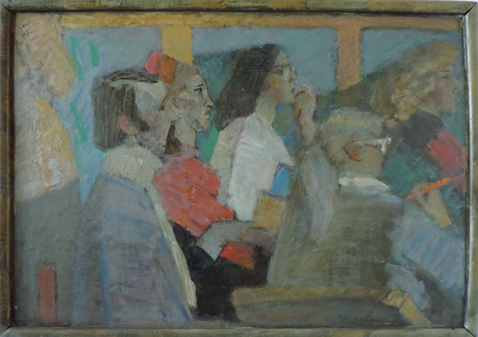 Juvenal Korovin (1914-1991). Honored Artist of Russia. At the meeting. 45x64 cm. Canvas on cardboard, oil. 1975