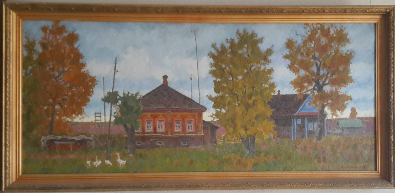 Vladimir Ulyanov. Was born in 1933. People's Artist of Russia.50х116.5 cm. Canvas, oil. 1999